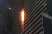 Brandausbreitung am Neo 200 Building, 4. Februar 2019, Melbourne (Quelle: Simone Fox Koob, The Age)
